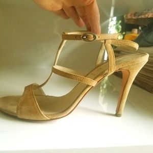 Butter suede heeled sandals